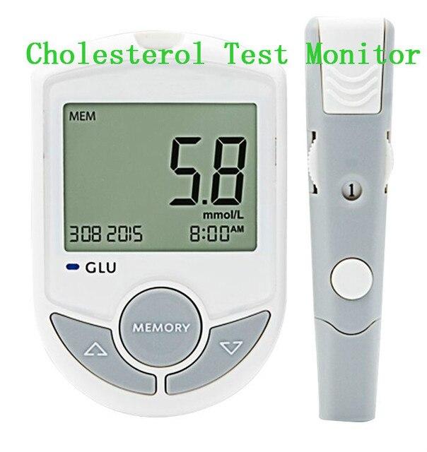 Высокое Качество Bluetooth Глюкозы, Холестерина, 2 In1 Метр Монитор 10 Тест-Полоски + Твист Ланцеты крови холестерина