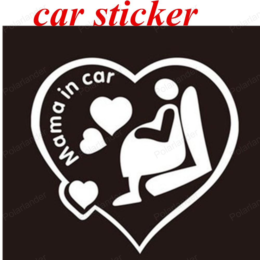 big sale MAMA IN CAR warning stickers waterproof decal car sticker car decoration 1PCS Lovely white black colors car stickers