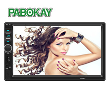 2 Double Din 7018B Car MP5 Player 7 Inch Touch Screen Auto Car MP4 Video Player Radio Remote Control Support Rear View Camera 7 inch digital tfttouch screen car multi media player 12v auto video remote control intelligent gps navigation function