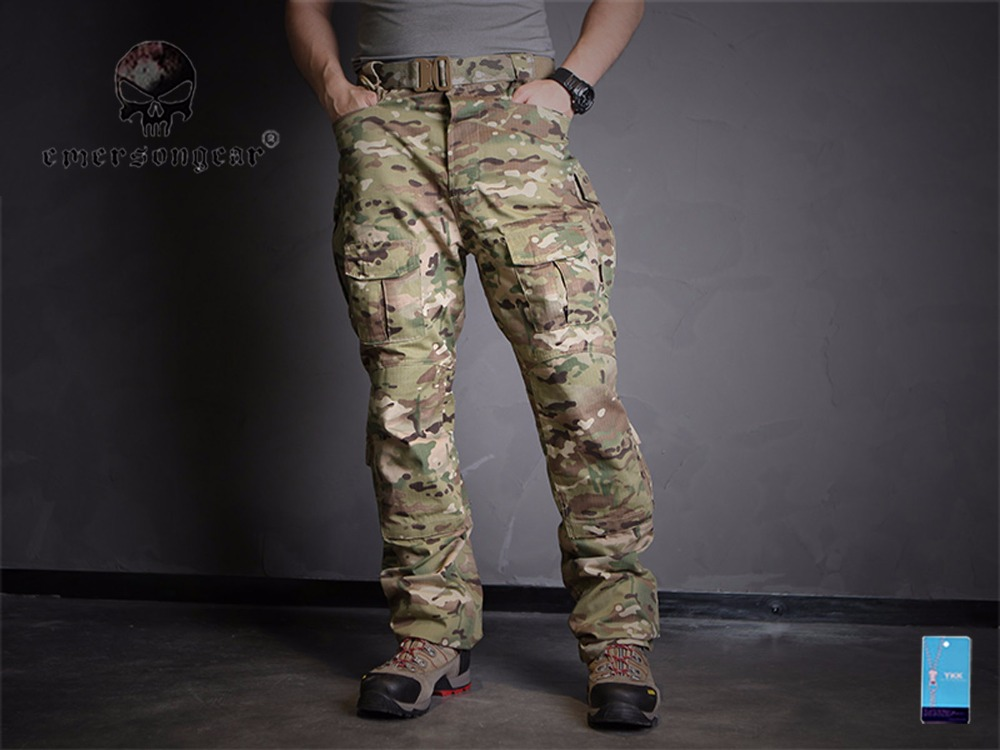 Men Military Hunting Outdoor EmersonGear CP Field Pants Emerson Tactical Trousers Training Camouflage Multicam EM6990(China)