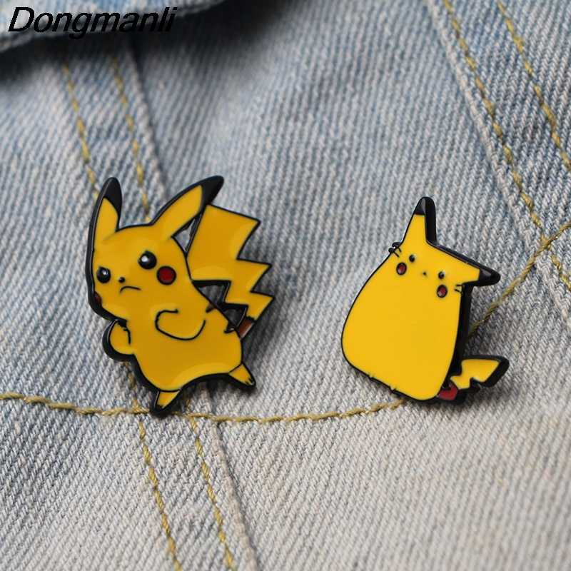 DMLSKY Cartoon Pocket Monster Brooch Metal Enamel Pin Women and Men Fashion Brooches Clothes badge Shirt Collar Pins M2883