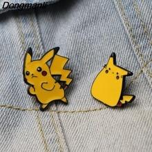 DMLSKY Cartoon Pocket Monster Brooch Metal Enamel Pin Women and Men Fashion Brooches Clothes badge Shirt Collar Pins M2883