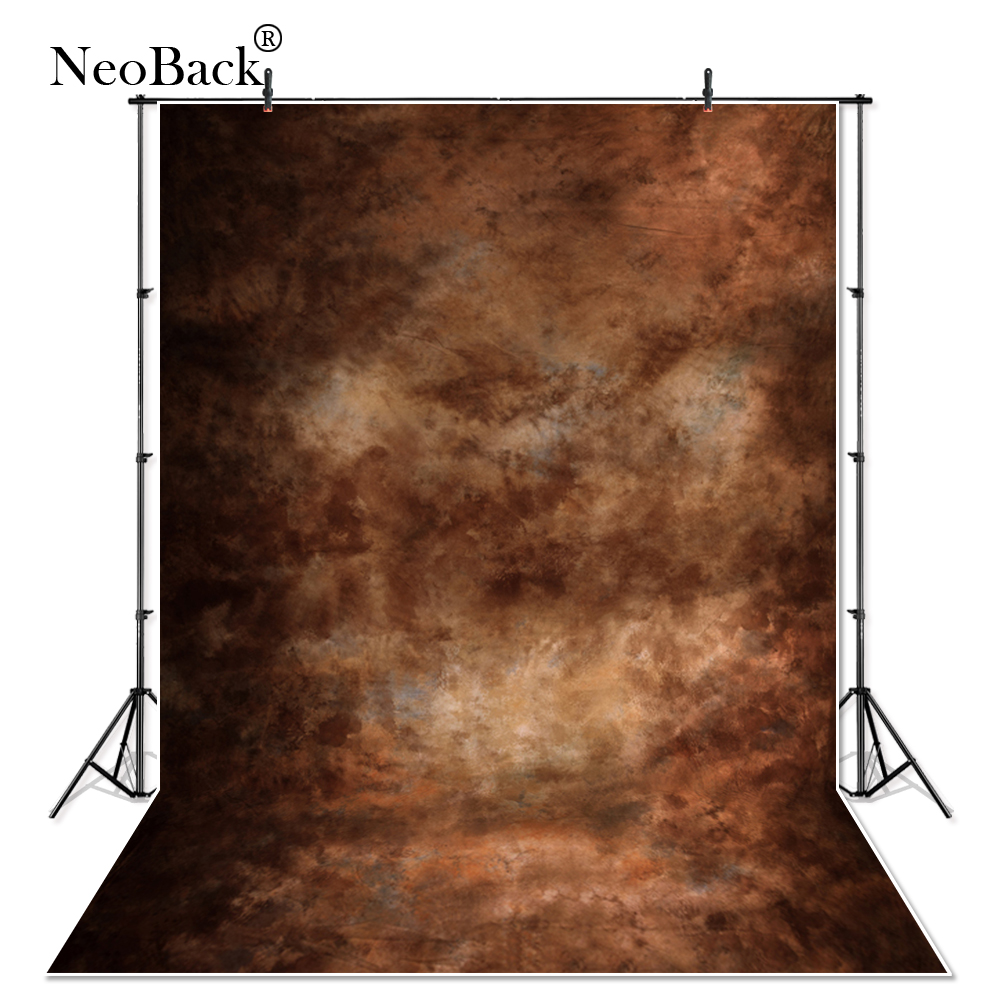 Thin Vinyl Brown Tone Old Master Portrait Photography Background Black Texture Background Wall Photo Studio Backdrops P1036