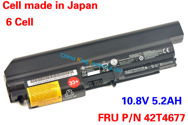 ФОТО 10.8V 5.2AH Genuine New Laptop Battery For Lenovo ThinkPad T400 T61 T61p R61 R61i R400 14