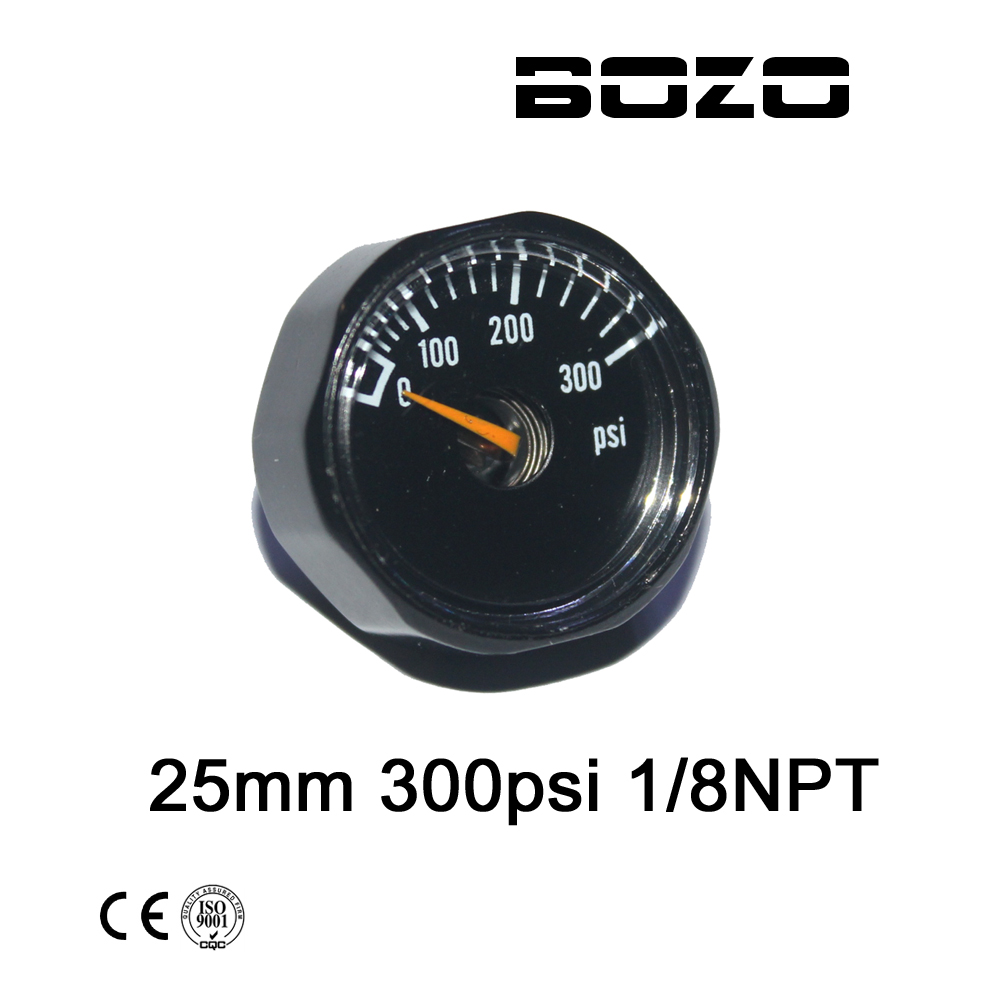 Paintball Airsoft Diving PCP AirGun Mini 25mm 300psi Manometer Gauge 1/8NPT