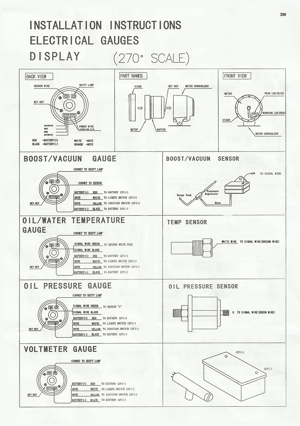 Oil Temperature Gauge Wiring Diagram How To Install An Oil Pressure