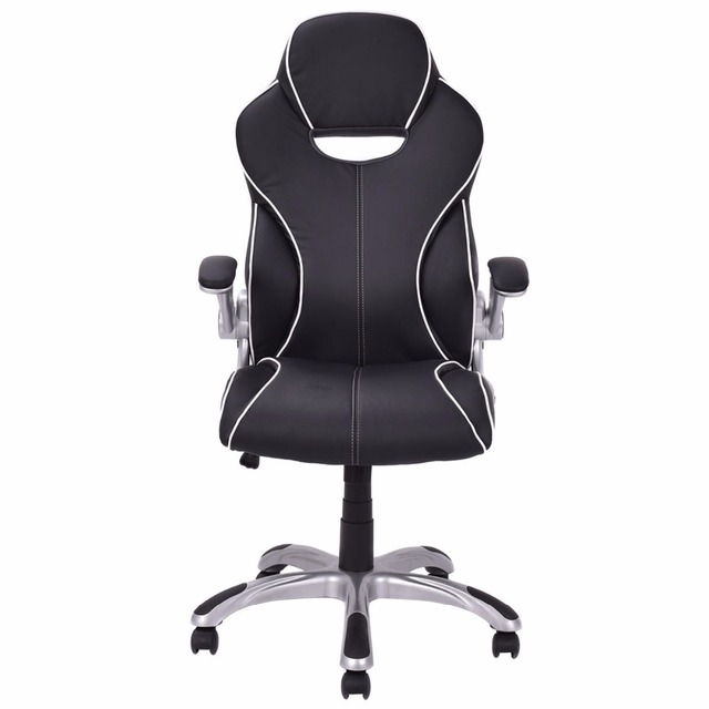 Goplus High Back Executive Racing Style Office Computer Chair Gaming Chair  Adjustable Armrest Ergonomic Swivel Chairs