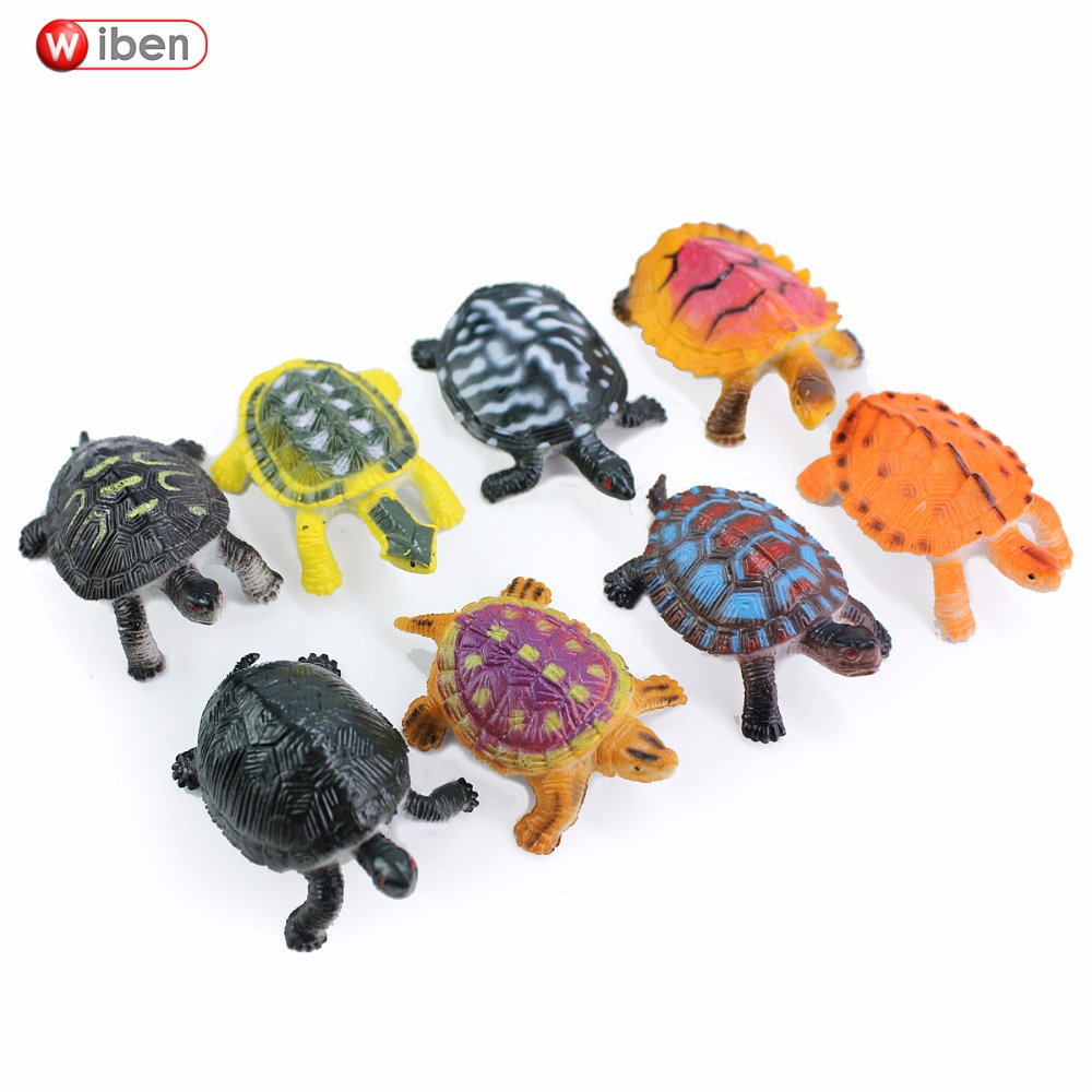 Wiben Small Size tortoise Sea Turtle Simulation Animal Model Sea Life Action & Toy Figures Gifts For Children High Quality wiben cattle simulation animal model action