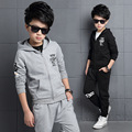 Boys Sports Suits Cotton Letter Clothing Sets For Boys Tracksuits Spring Autumn 3 4 5 6 7 8 9 10 11 12 13 14 years Kids Outfits