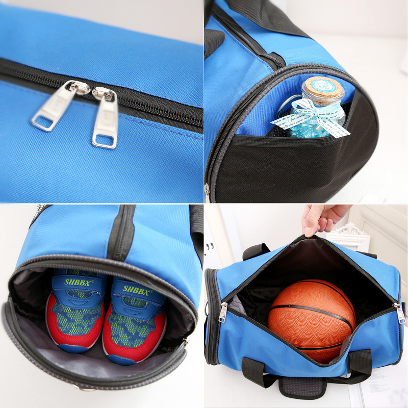 Купить с кэшбэком Soft Sports Bag Waterproof Nylon GYM Bag For Sports Camping Travel Fitness Bag with Shoes Pocket Single Strip WX072