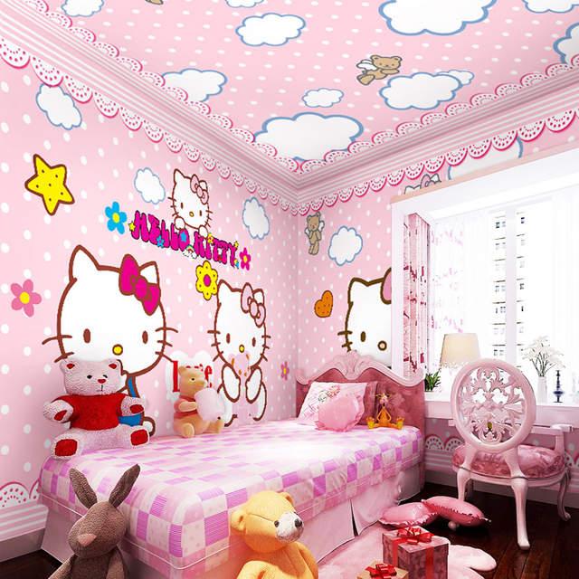 Online Shop Large Mural Children S Room Wall Paper Princess Girl