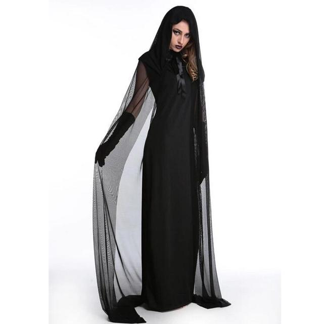 adult cosplay female witch halloween costume dress skirt dress dress black witch witch vampire uniform female