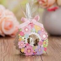 Yeni varış Çiçek Şeker Çanta Çiçek Konuk Şeker Lüks Dekorasyon Dekor Parti Kağıt Düğün Hediyeler Konuk Için Iyilik Kutusu