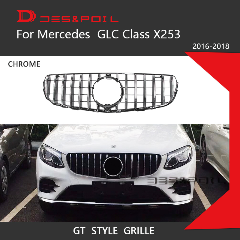 For Mercedes Benz GLC Class X253 GT Grille Vertical Style
