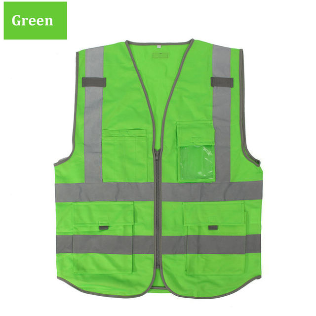 High Visibility Safety Reflective Vest Working Clothes for Outdoor Night Work Security Traffic Cycling