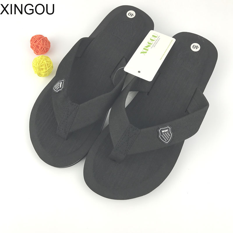 2018 New Flat Sandals slippers men summer Bakham Leisure Flip Flops men EVA Beach Sandals For Men plus Size men's slippers plus size leisure beach espadrille wedge heel sandals