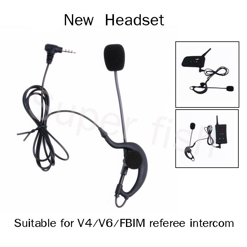 Vnetphone Bluetooth Headsets Headphones for V4/V6/FBIM Helmet Headsets  Headset  and Coach Referee Earphone Referee Microphone(China)