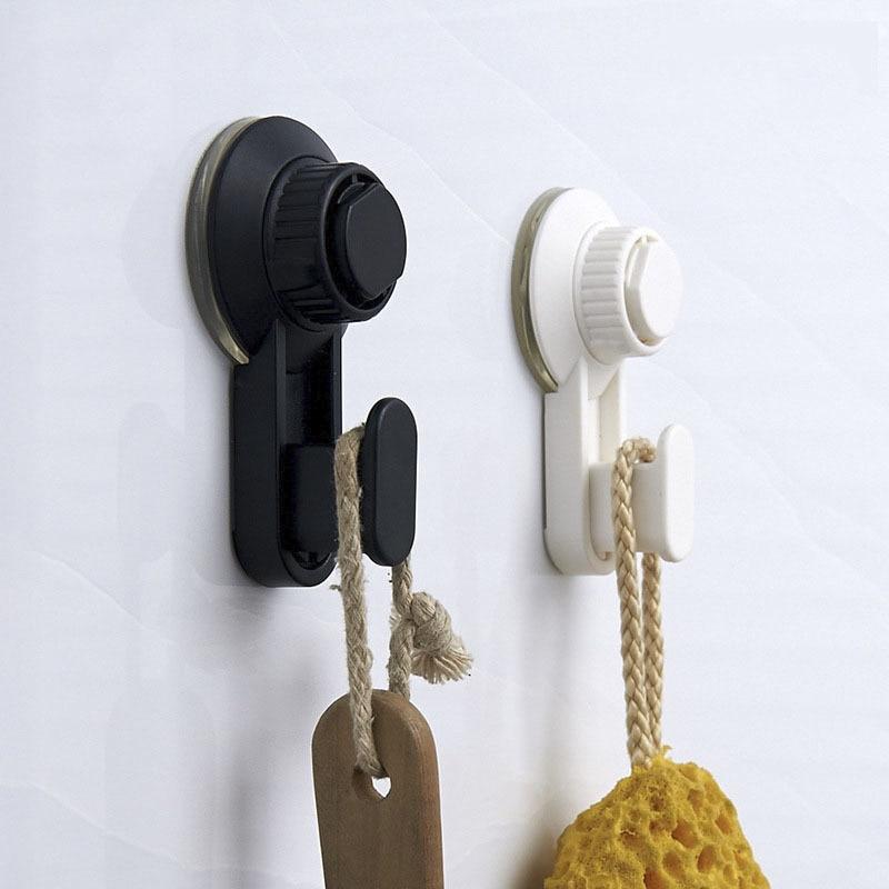 2PCS Bathroom Hook 3KG Powerful Vacuum Suction Hooks for Bathroom Kitchen Wall Powerful Sucker Waterproof and Moisture Proof in Bathroom Hooks from Home Garden