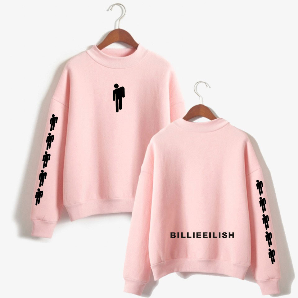 Billie Eilish Warm Turtleneck Sweatshirt Women Fashion Printing  Long Sleeve Sweatshirt Streetwear Women Clothes