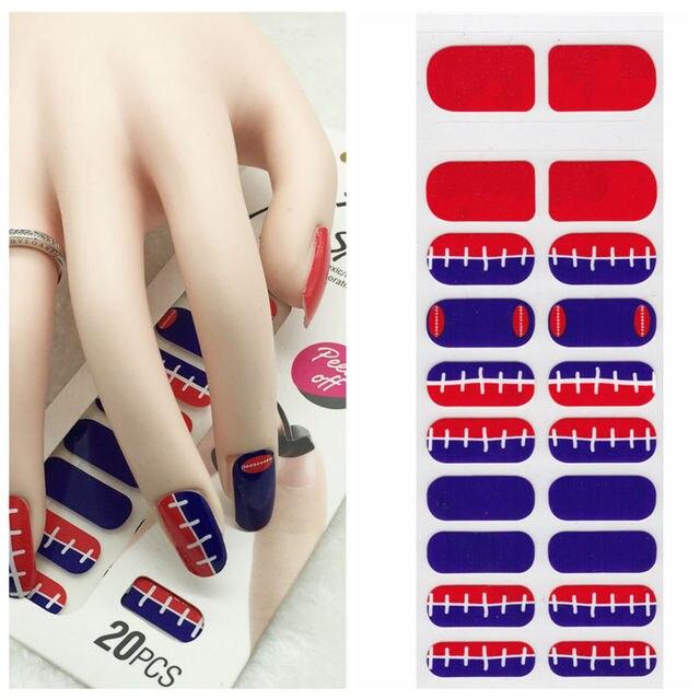X T Xt Nail Polish Strips Football Waterproof Non Toxic Sticker Art Decorations