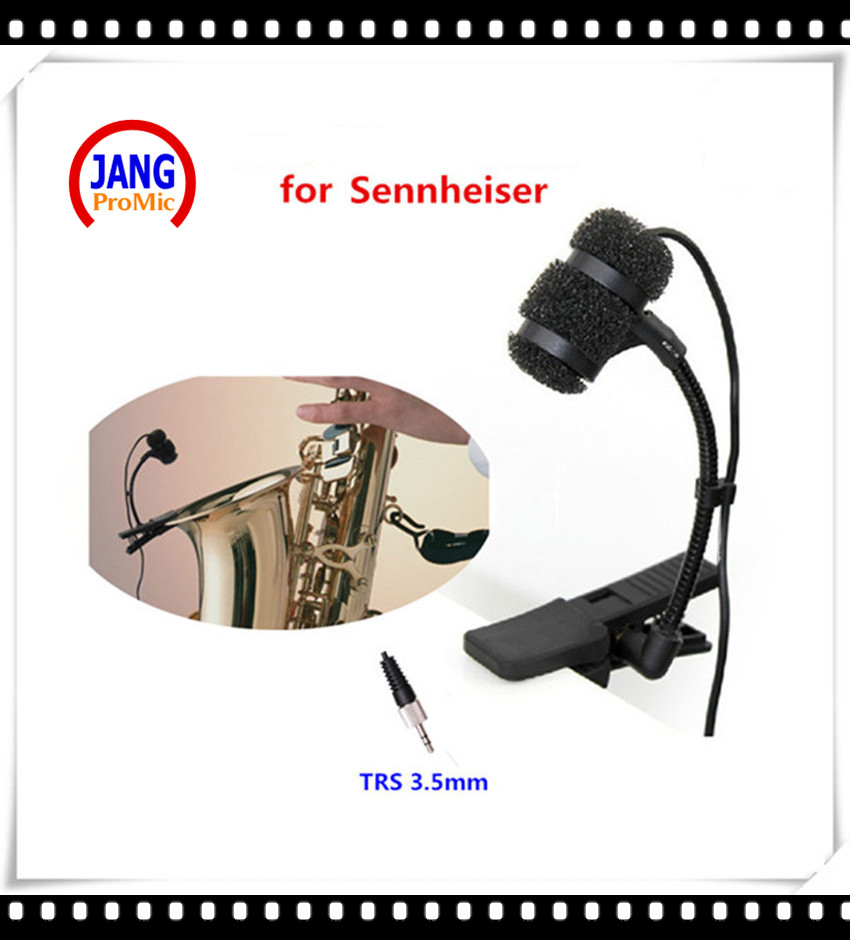 Professional Instrument Saxophone Microphone Condenser Clip Microfone for Sennheiser Wireless System TRS 3.5mm Mikrofon  professional lapel music instrument microfone double bass microphone lapeal for shure wireless system xlr mini microphones