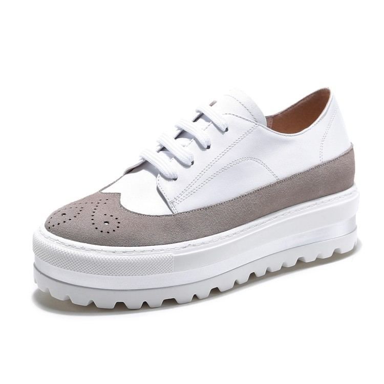 2017 blanco Mujer Pisos Moda Mocasines {zorssar} Zapatos Negro De Ocio Blancos Casuales Cuero Real Nueva Vaca 4088Zd