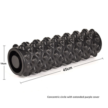 Hollow and covered yoga column foam roller with cover yoga seat pilates fitness foam roller gym massage sports muscle relaxation