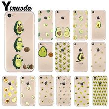 Yinuoda Cartoon cute avocado Colorful Cute Phone Accessories Case for iPhone 8 7 6 6S Plus 5 5S SE XR X XS MAX Coque Shell