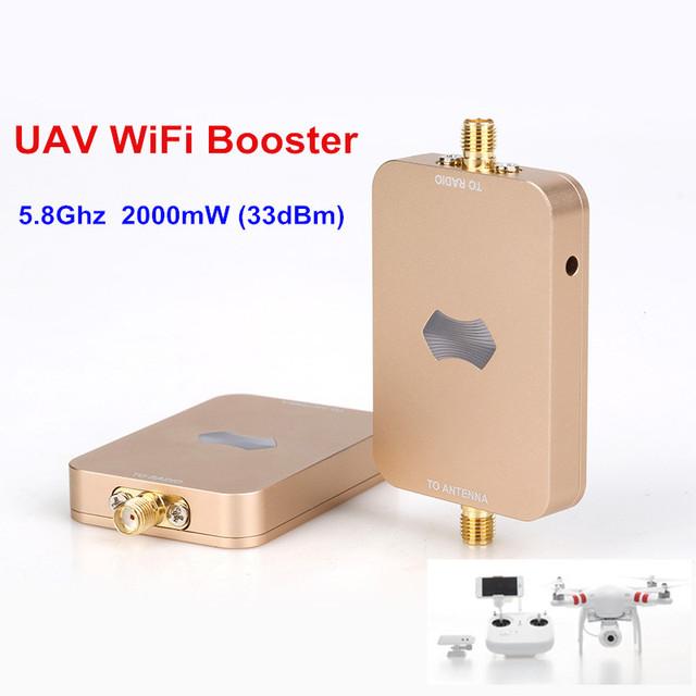 100% Original UAV eSunRC SH-RC58G2W SUNHANS 2000 mW 33dBm WiFi Booster de Señal de 5.8 Ghz WiFi Amplificador de Señal