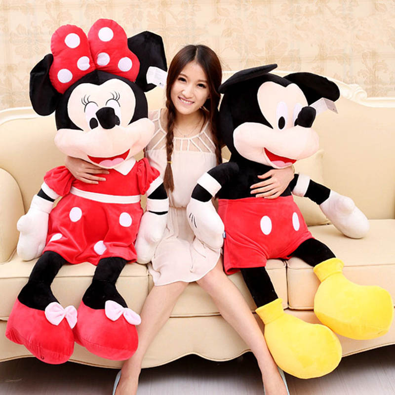 Hot Sale 40-100cm High Quality Stuffed Mickey&Minnie Mouse Plush Toy Dolls Birthday Wedding Gifts For Kids Baby Children