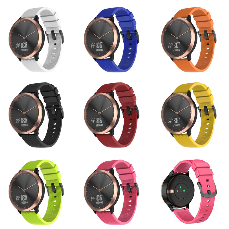 Replacement Watch Band Silicone Strap Watchband For Garmin Vivomove HR Watches GDeals