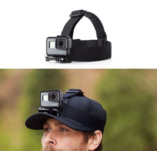 Serre-tête réglable bandeau de ceinture de montage de Session pour Gopro Hero 6/5/4/3 SJCAM accessoires de caméra daction