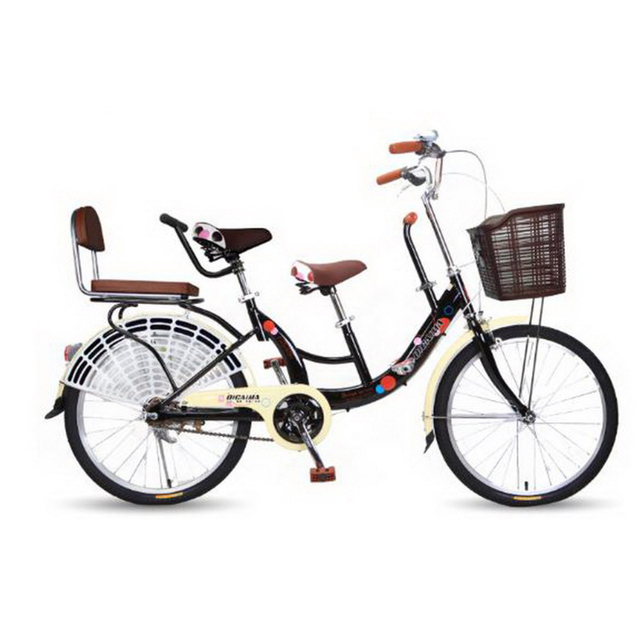74aa4addd30 tb30910 Parent bike mother and child variable speed women s bike 22  inch child ladies city bike Ergonomic seat Anti-skid handle