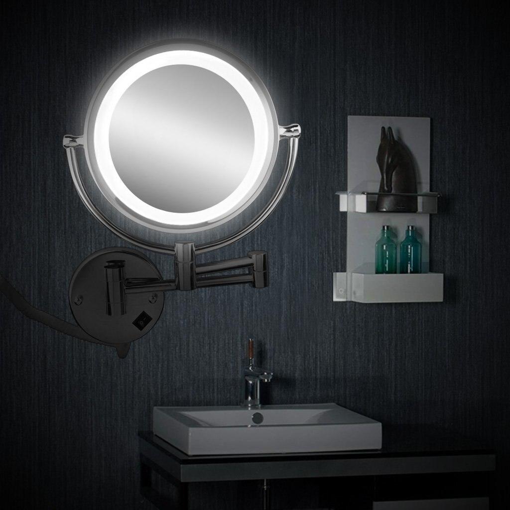 Aufstrebend Cheval Spiegel Eitelkeit Kosmetik Spiegel Led Beleuchtet 7x Zoom Vergrößerung Spiegel Make-up 8,5 Zoll Um Sowohl Die QualitäT Der ZäHigkeit Als Auch Der HäRte Zu Haben Spiegel Haut Pflege Werkzeuge
