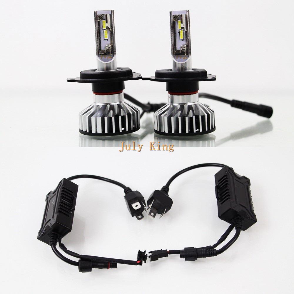July King 5500K H4/9003/HB2 High + Low Beam 35W 5600LM LED Headlight Kit Conversion Canbus Bulb IP68 Auto Fog Lamp Light Bulb promotion 2x new gen h4 40w 3600lm 6000k 9003 cree led bulb hi low headlight lamp fog driving light