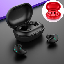bluetooth earphone stereo mini wireless Binaural touch sport Bluetooth headset leather