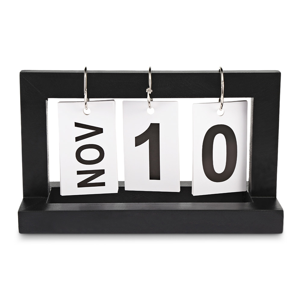 Portatile Innovativo di Legno di Paging del Calendario Da Tavolo Per La Casa Ufficio di Arte Della Decorazione Della Decorazione Artigianato Calendario