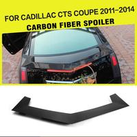 Carbon Fiber Rear Racing Trunk Boot Lip Spoiler Wing For Cadillac CTS Coupe 2 Door 2011 2014 Car Styling
