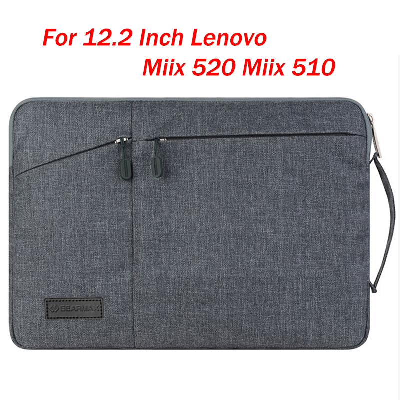 Hand Holder Design Laptop Sleeve Bag For 12.2 Inch Lenovo Miix 520 Miix 5 Plus/510 Fashion Tablet PC Case Waterproof Pouch Gift 2016 fashion keyboard case for lenovo miix 3 10 tablet pc for lenovo miix 3 10 keyboard case