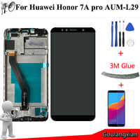 """AAA high quality 5.7 """" LCD + Frame For Huawei Honor 7A pro aum-l29 AUM-L29 LCD Display Touch Screen Digitizer Assembly Replace"""