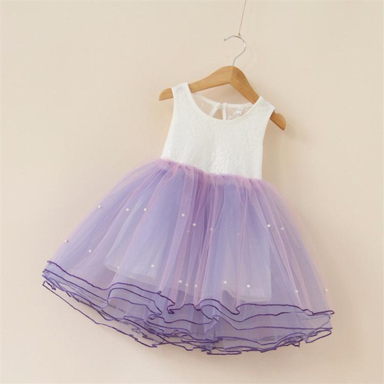 New arrivals children clothing   flower     girl     dress   pearls baby   girls   birthday   dresses   princess party   dress     girls   tutu   dress