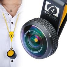 8mm 238 grados lente ojo de pez, apexel full frame lente de la cámara del teléfono celular móvil para iphone 7 plus samsung moto huawei android