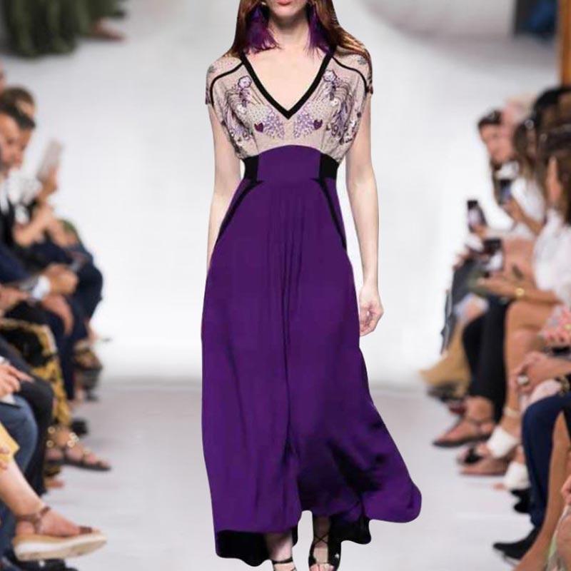 Long Dress Designer High Quality 2019 Summer New Women Fashion Party Casual Sexy Beach Vintage Elegant