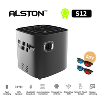 ALSTON Mini HD S12 projector 50ANSI lumens easy to carry home 1080P projector with battery