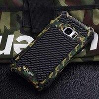 AMIRA Armor Carbon Fiber Metal Aluminum Shockproof Cover Case For Samsung Galaxy S8 S7 S6 Edge