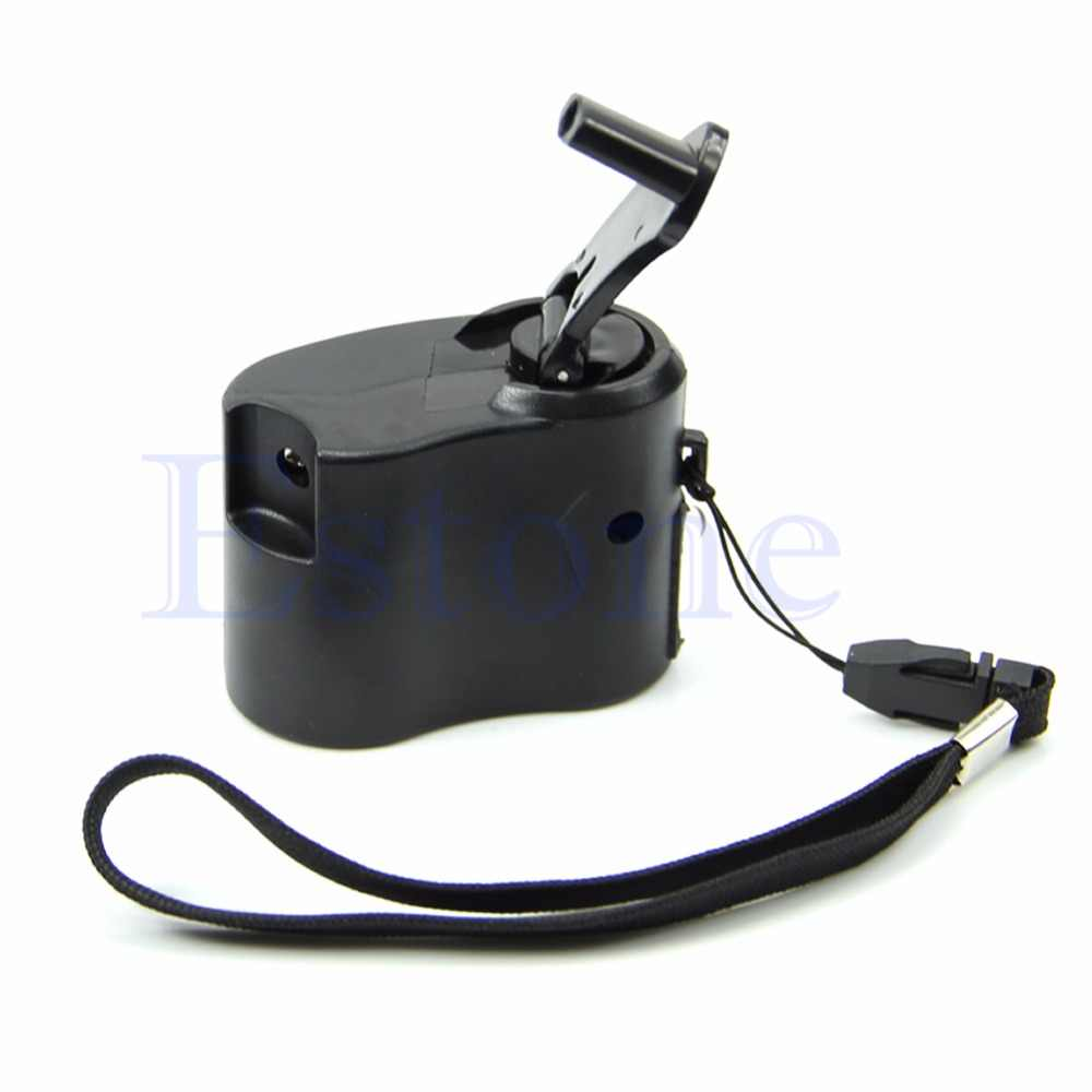 Emergency Hand Crank Charger Cell Phone USB Manual Dynamo For Mobile PDA MP3 MP4-M28