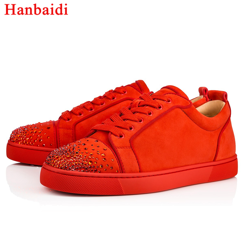 Hanbaidi Fashion Rhinestone Suede Leather Mens Laofers Low Top Lace Up Round Toe Mens Flats Runway Party Outfit Casual Shoes Men round toe suede lace up mens boots