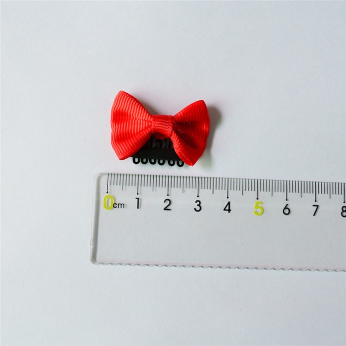 HTB1dyQ2JVXXXXcoXXXXq6xXFXXXC Cute 10-Pieces Solid Polka Dot Mini Bow Baby Hair Grips - 2 Styles