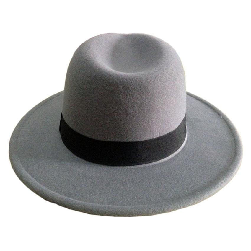 Mäns ull Filt Snap Brim Hat Trilby Women Vintage Wool Panama Fedora - Kläder tillbehör - Foto 4