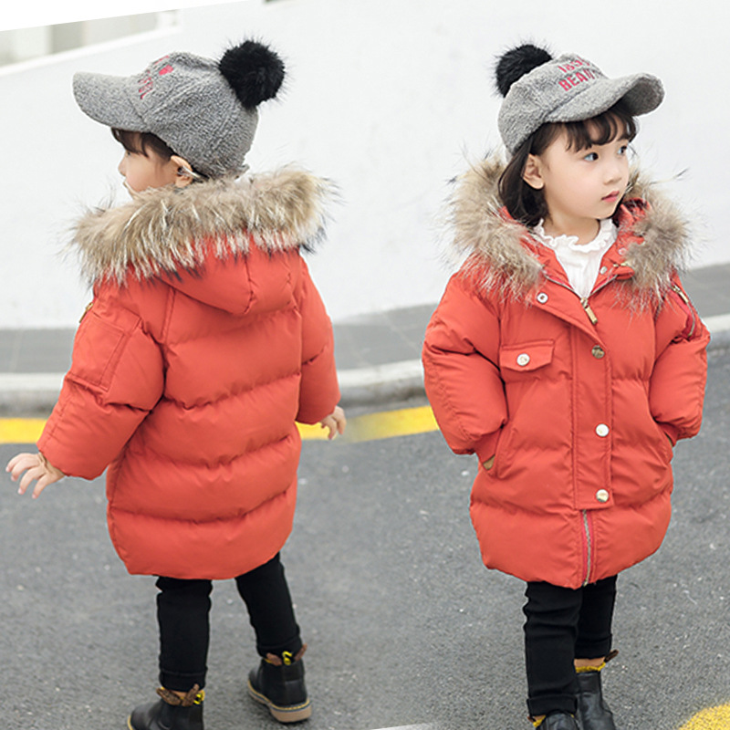 Children Winter Warm Clothing Girls Parka Coat Jacket Leopard Fur Hooded Padded Jacket Outerwear 90 100 110 120 130 High Quality hot sale clothing 2016 newest men parka winter jacket fashion quality padded stand collar single breasted short coat for male